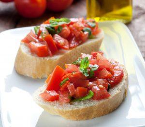 Bruschetta mit Tomatenpolpa