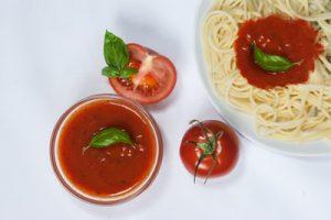 Serviervorschalg des Tomatensugos