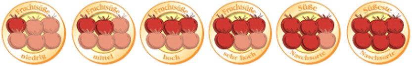 Fruchtsüße-Einteilung bei Tomaten